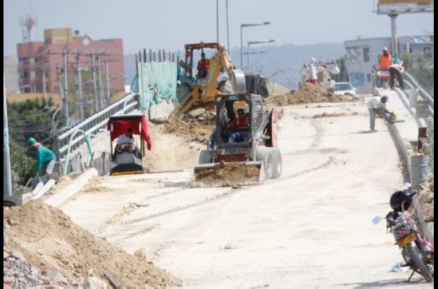 Reparación del Puente de Las Gaviotas.