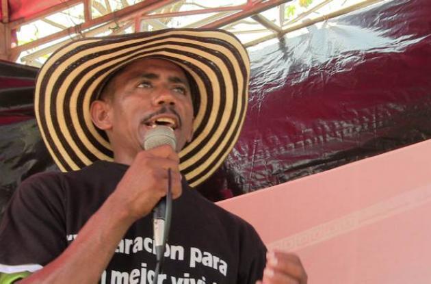 Gabriel Pulido, líder de Mampuján.