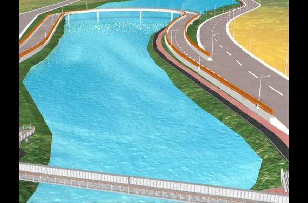 Imagen planográfica, lo que sería el Puente Jiménez
