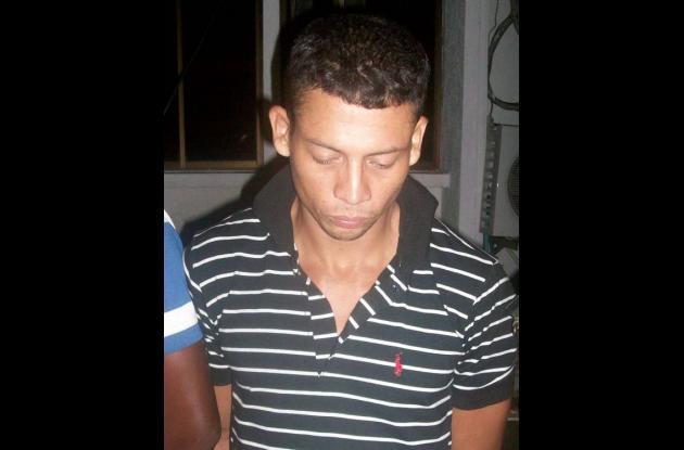 Saúl Enrique Villalba, capturado.