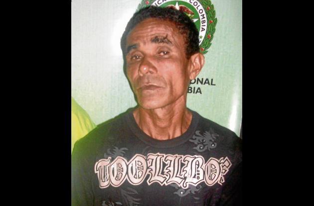 Pedro Emilio Julio, capturado.