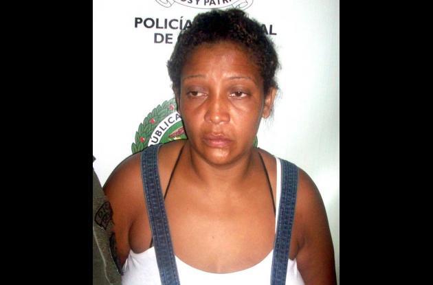 Yeinsi Zoraida Bueno de la Cruz, capturada.