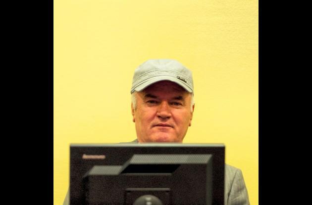 Ratko Mladic, ex jefe militar de los serbios de Bosnia.