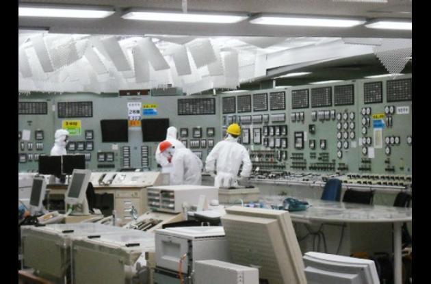 Cuarto de control del reactor nuclear No. 2.