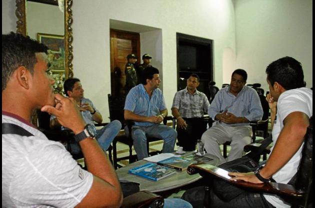 Reunión entre jugadores y directivos del Real Cartagena.