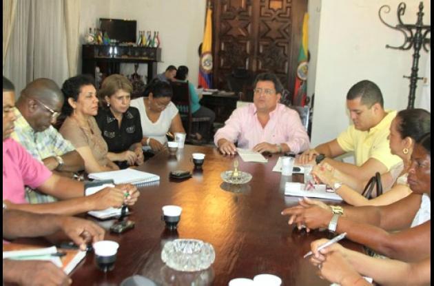 reunión con representantes afro de Palenque  y San Pablo
