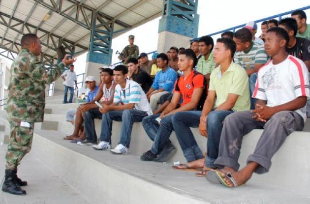 Jornada de reclutamiento militar en Cartagena