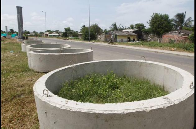 Obras de interconexión eléctrica en Vía Perimetral de Cartagena.