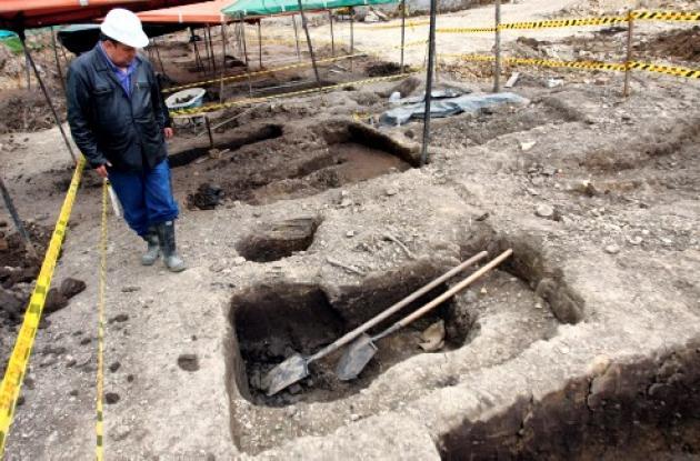 excavación del Cementerio Central