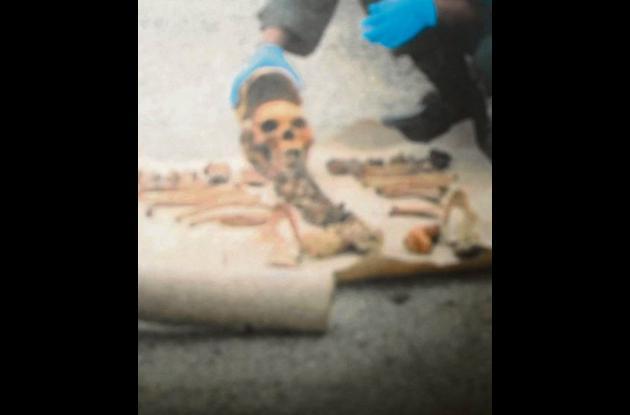 restos óseos que se encontraron en el barrio El Dorado de Montería