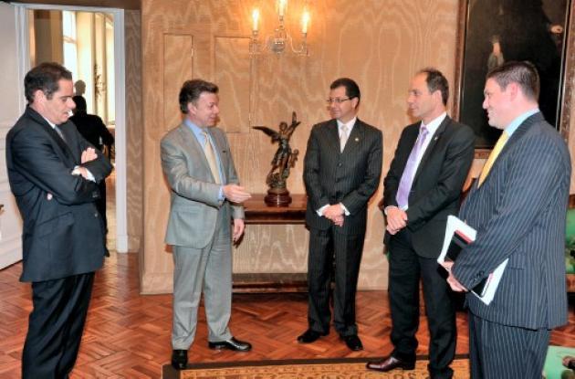 Fue cordial la reunión del presidente Santos con las altas cortes.