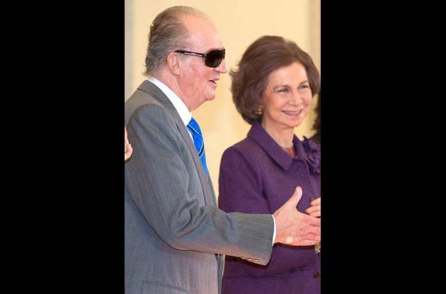 Rey Juan Carlos, junto a la Reina Sofía.