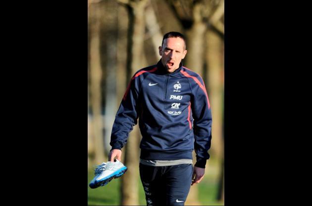 Franck Ribery, jugador de la selección Francia.