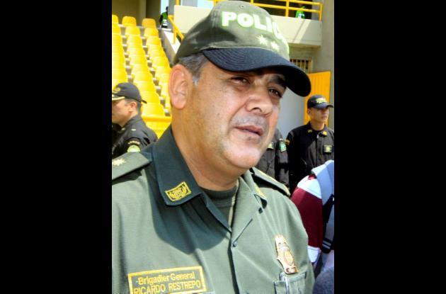 Brigadier general, Ricardo Restrepo, comandante de la Policía de Cartagena.