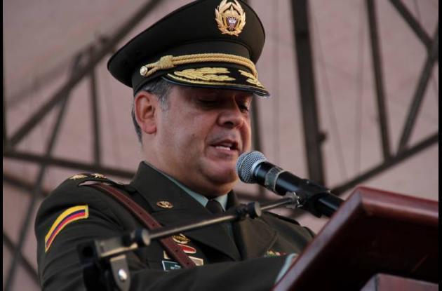 Ricardo Restrepo, comandante saliente de la Policía Metropolitana de Cartagena.
