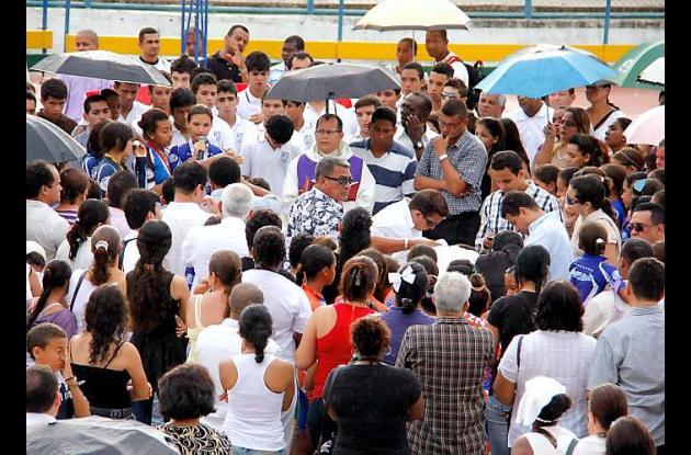 Los restos de Camilo Romero fueron llevados al patinódromo del Campestre