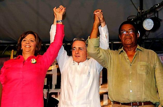 Uribe acompañó a Rosario Ricardo en concentración en el Centro de Convenciones.