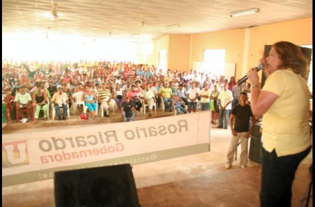 Rosario Ricardo escuchó a los habitantes de San Martín de Loba.