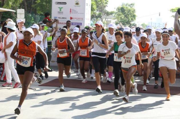 señorita Colombia, Daniella Álvarez  carrera 5k barranquilla
