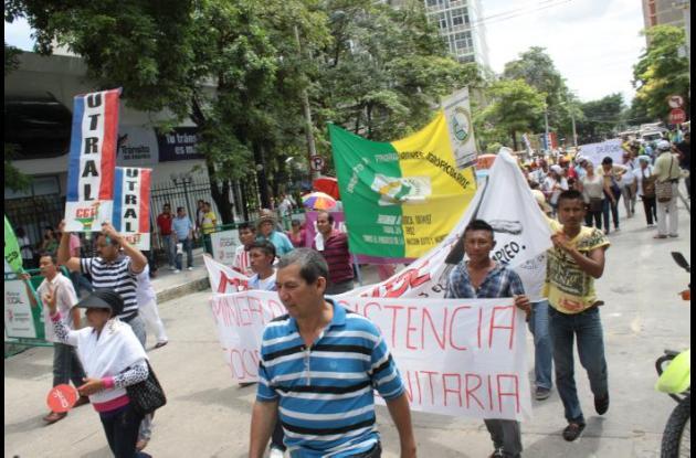 Protestas en el Atlántico.