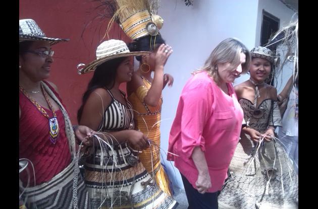 Ministra de Cultura en Galeras - Sucre