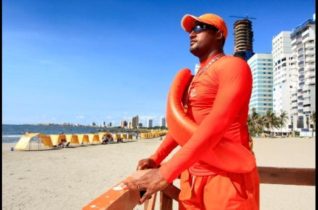 Salvavidas en playas de Cartagena.