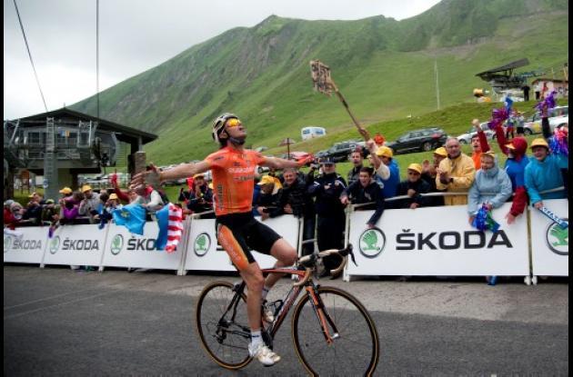 El español  Samuel Sánchez ganó este jueves la duodécima etapa del Tour de Franc