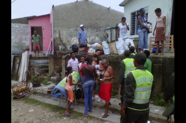 Calamidad en al barrio San Francisco, de Cartagena.