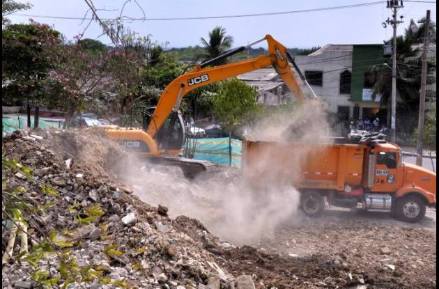 Remoción de escombros en San Francisco