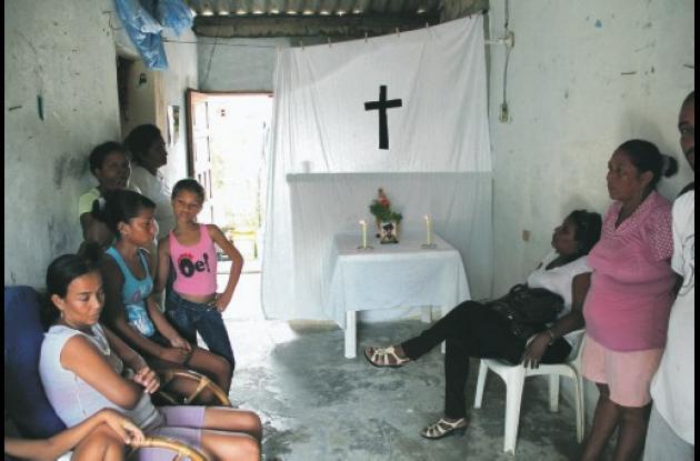 En la casa de Luis Orozco Flórez, en el barrio San José de los Campanos, es vela
