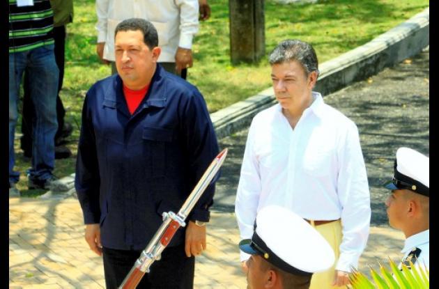 16 acuerdos firmaron Juan Manuel Santos y Hugo Chávez en Cartagena.