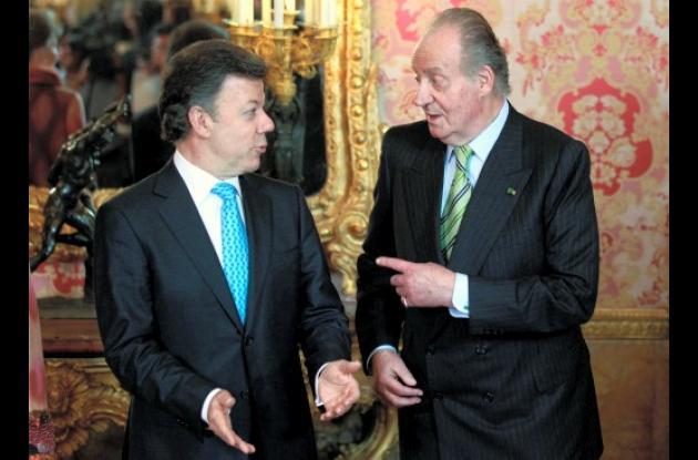 Juan Manuel Santos y el rey Juan Carlos