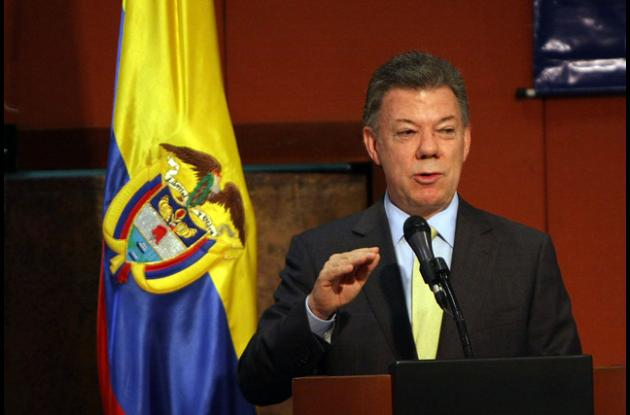 Juan Manuel Santos, presidente de la Colombia.