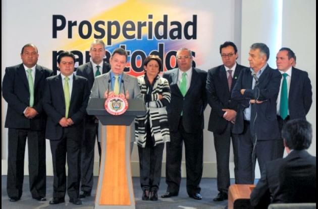 Juan Manuel Santos aseveró que la entrada del Partido Verde en la Unidad Naciona