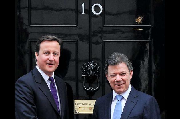 David Cameron y Juan Manuel Santos