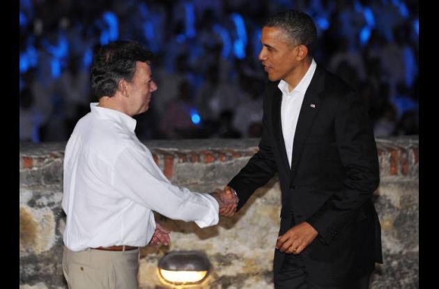 Juan Manuel Santos y Barack Obama,