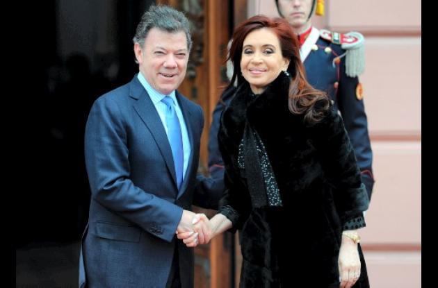 Santos y Kirchner relaciones bilaterales enfrentar crisis América Latina