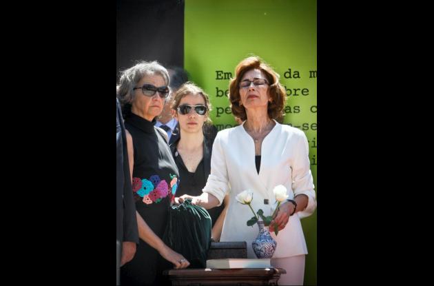 Esposa de José Saramago en la ceremonia.