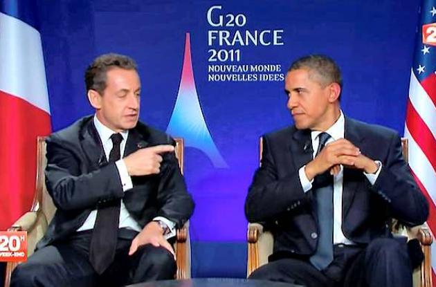 Nicolas Sarkozy y Barack Obama