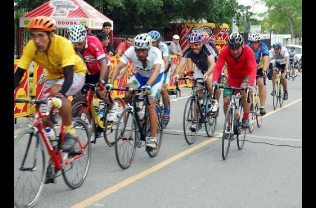 pedalistas de la categoría Senior Master de Sincelejo
