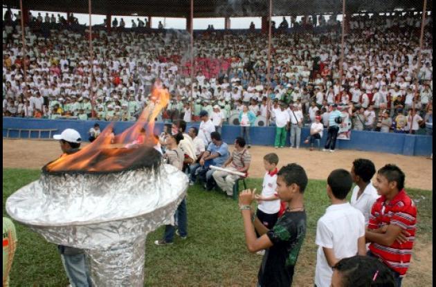 inauguración de los Juegos Intercolegiados 2001