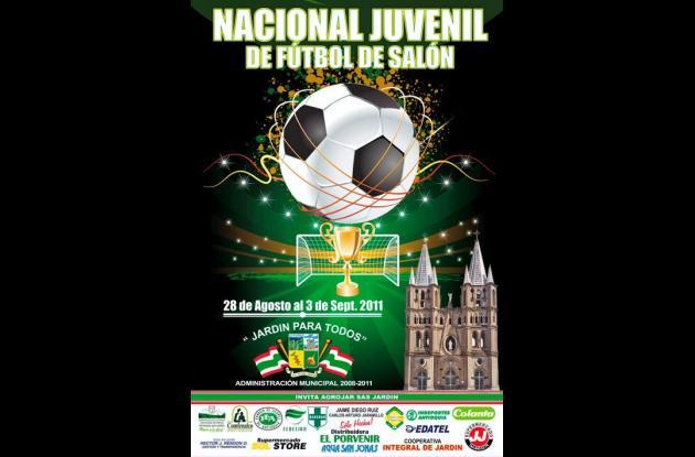 Afiche promocional del certamen de futsal.