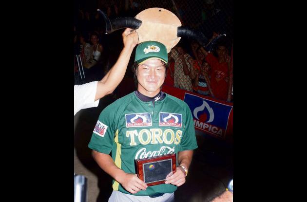 Kento Abe, pitcher con más ponches propinados.