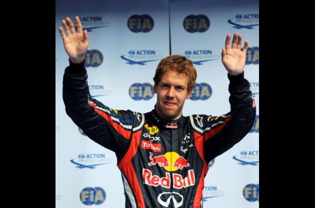 Sebatian Vettel ganó este sábado la pole del Gran Premio de Bélgica.