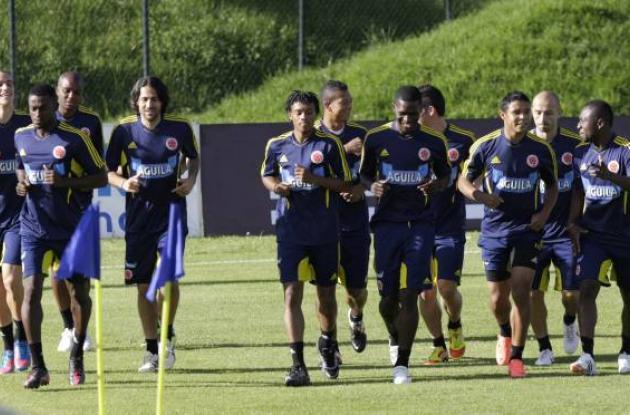 La Selección Colombia entrena para las eliminatorias al Mundial de Brasil 2014.