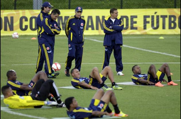 Selección Colombia entrena para las eliminatorias a Brasil 2014.