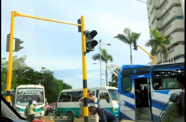 Semaforización en Cartagena