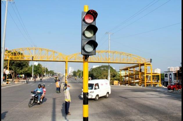 Semáforos en Transversal 54.