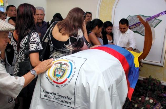Sepelio de la jueza Margarita Rosa De las Salas Bacca