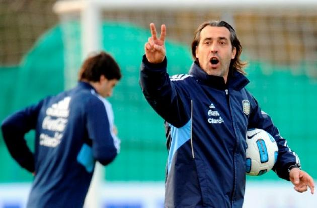 Sergio Batista, técnico de Argentina aseguró que espera más apoyo que presión